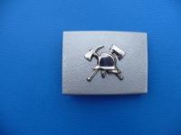 Koppelschloss, Aluminium, verchromte Auflage