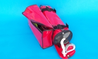 Combination rope bag with adhesive tool bag