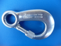 Safety carbine hook with screw cap